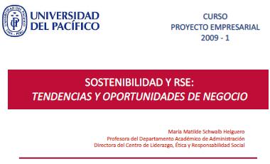 Sostenibilidad y RSE